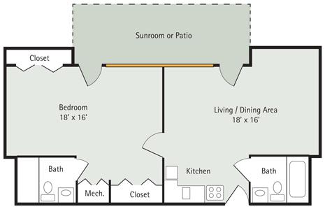 The Pin Oak 1 Bedroom Apartment