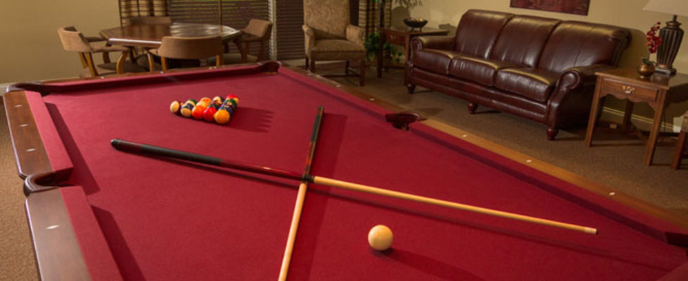 Gameroom with pool table