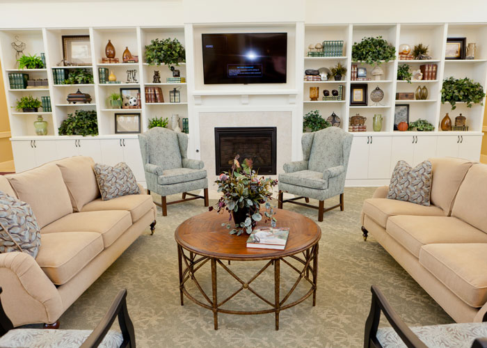 Comfortable lounge in Memory Care facility