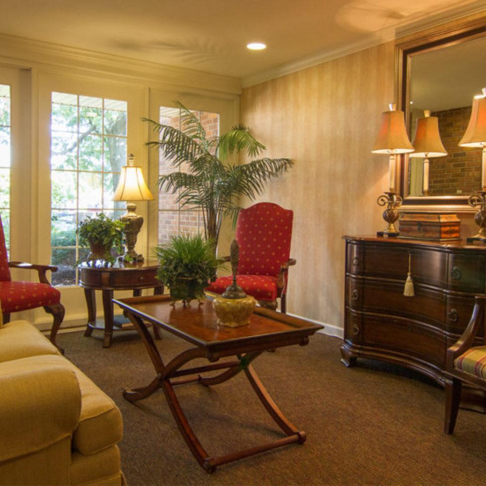 Elegant lounge at the Four Seasons