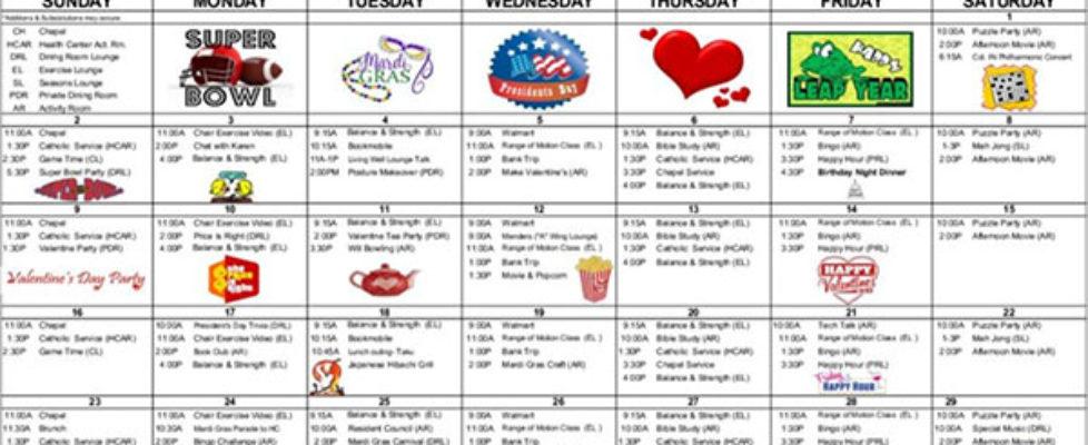 February Calendar Preview