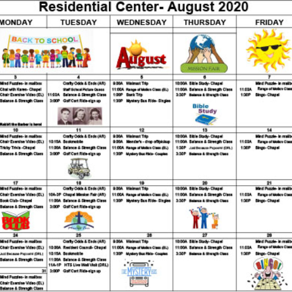Link to the August event calendar