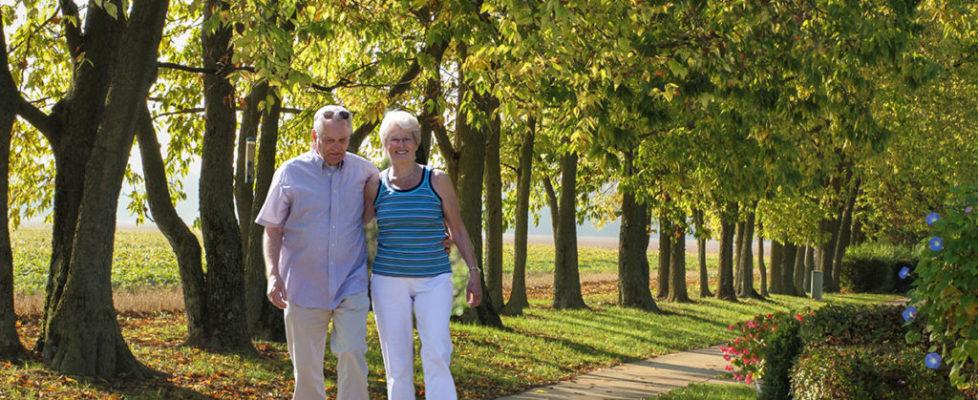Couple Walking Path
