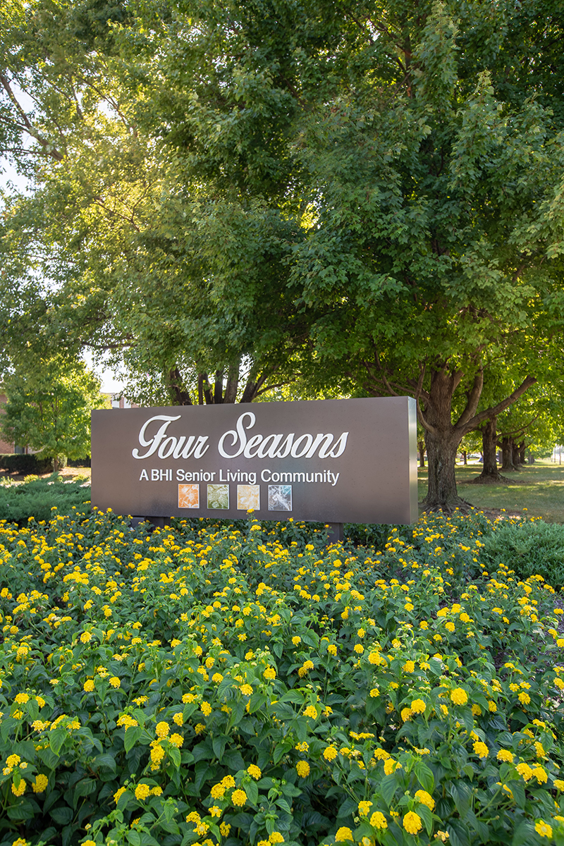 Four Seasons Street Sign